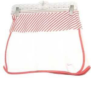 3/$25 Nike Striped Pink and White Golf Skirt